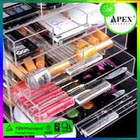 5 layer acrylic makeup organizer with drawers