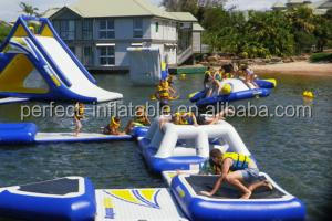 Hot sale inflatable aqua park, floating inflatable water park