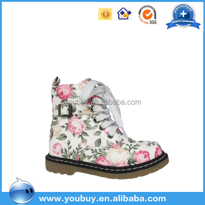 Hot selling Little girl fashion shoes ,flower girl shoes ,russia girls casual boots