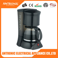 2015 Antronic cheap price mini portable 900w coffee maker 1.2L electric appliances coffee maker, coffee maker metal filter