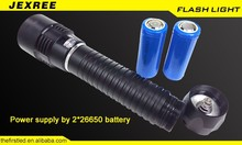 JEXREE factory Direct Sale Diving Flashlight 2500LM XHP50 LED Dive Torch
