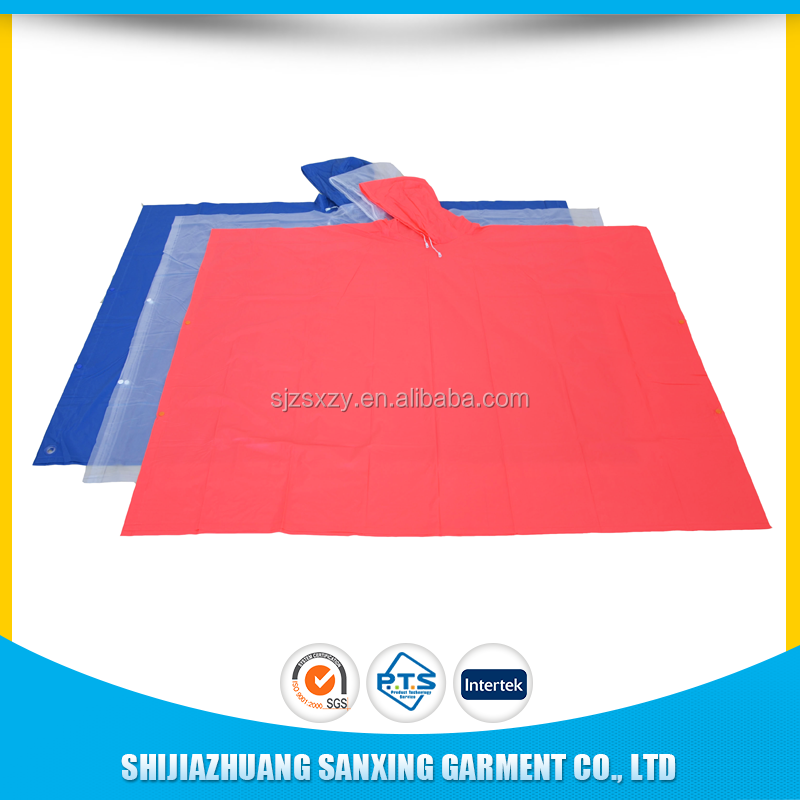 logo disposable rain poncho