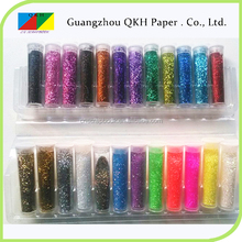 deep colors and fluorescent colors glitter powder in bulk