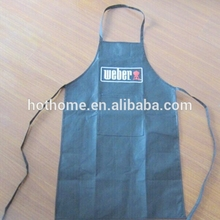 OEM available cheap work non woven printed blue chef cooking disposable kitchen apron