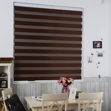 factory direct high quality window shades double roller zebra blinds blackout fabric customized size
