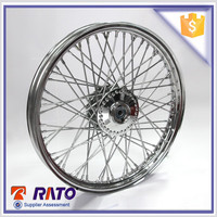 Chinese motorcycle parts, 19 inch chrome plated mootorcycle spoke wheel