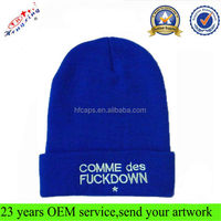 2014 Fashion Wholesale Men High Quality Custom Embroidery Unique Winter Hats