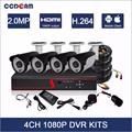 Hot Stock Product 4CH AHD/TVI/CVI/Analog input 1080P HD DVR KIT with cheap price