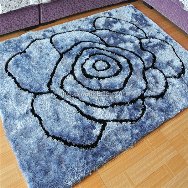 100% polyester pile shaggy rugs and carpets