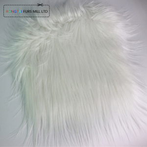 RONGTAI White Shaggy Long Pile Faux Fur Supplier