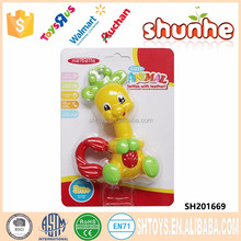 Colorful giraffe baby play toy rattles set