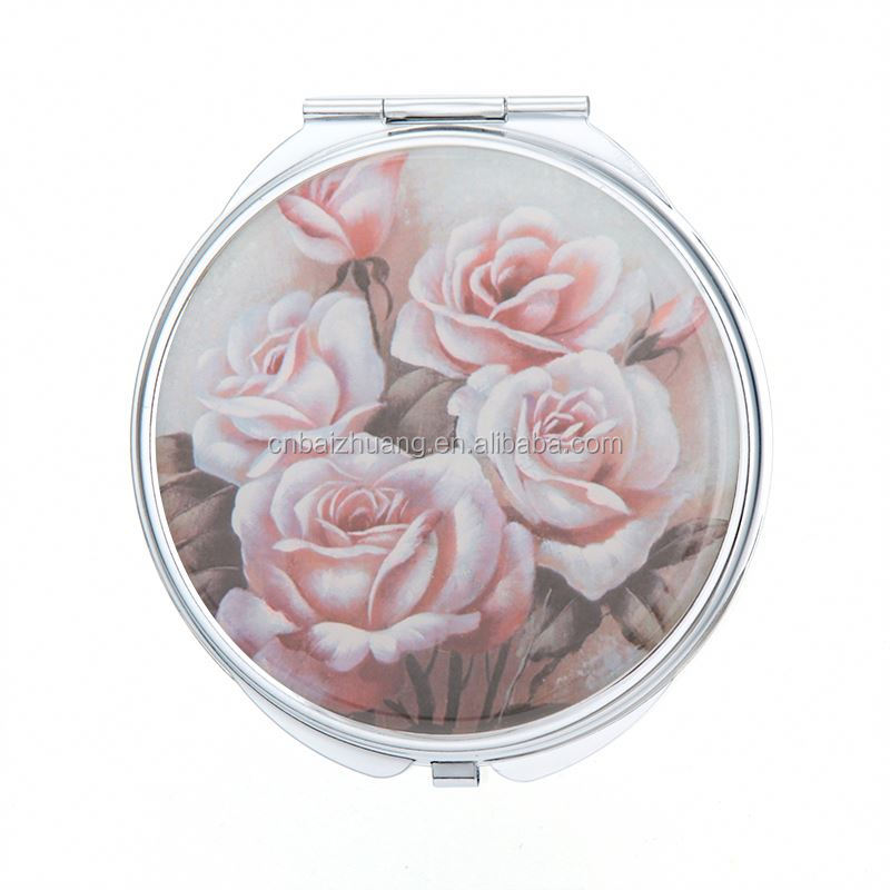 stainless compact mirror for decorating compact mirror with lipstick purse compact mirrors
