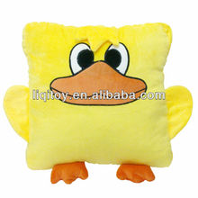 New design cute yellow duck shape baby pillow cushion