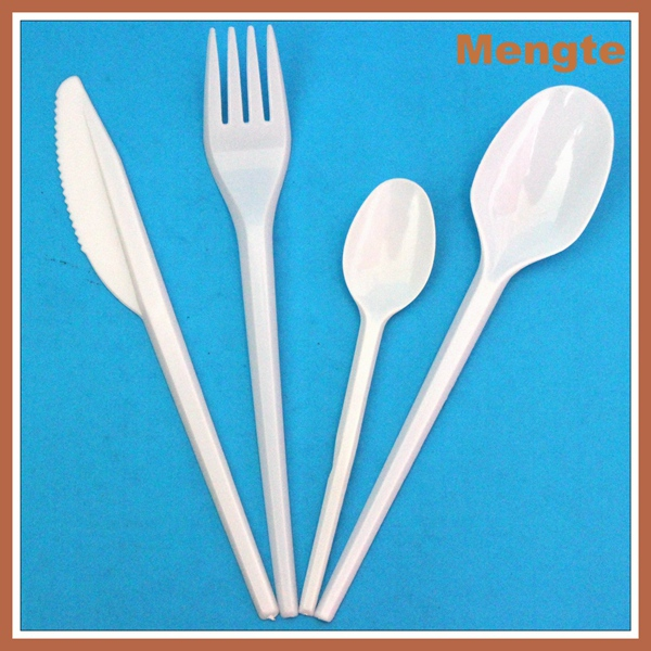 Hot Sale PS Disposable Plastic tableware/cutlery set OPP plastic wrapped