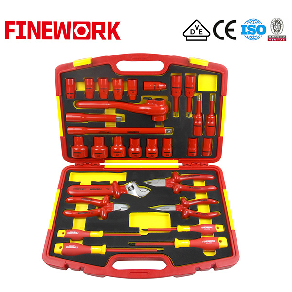 VDE Hand Tools 29 PCS Set Insulated Pliers, Insulated Screwdriver, Insulated Socket Insulated Wrench in Insulated Tool Set