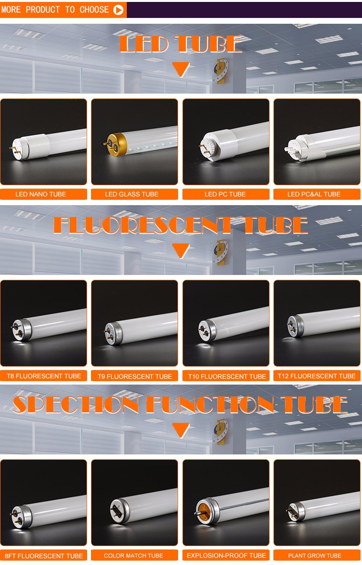 T8-15W fluorescent lamp primary color fluorescent lamp tube 360 degree led fluorescent lamp