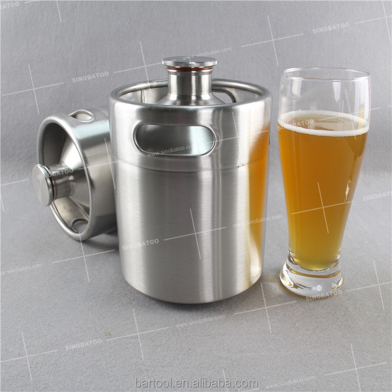 2L 64oz stainless steel vodka barrel with keg dispenser tapping system