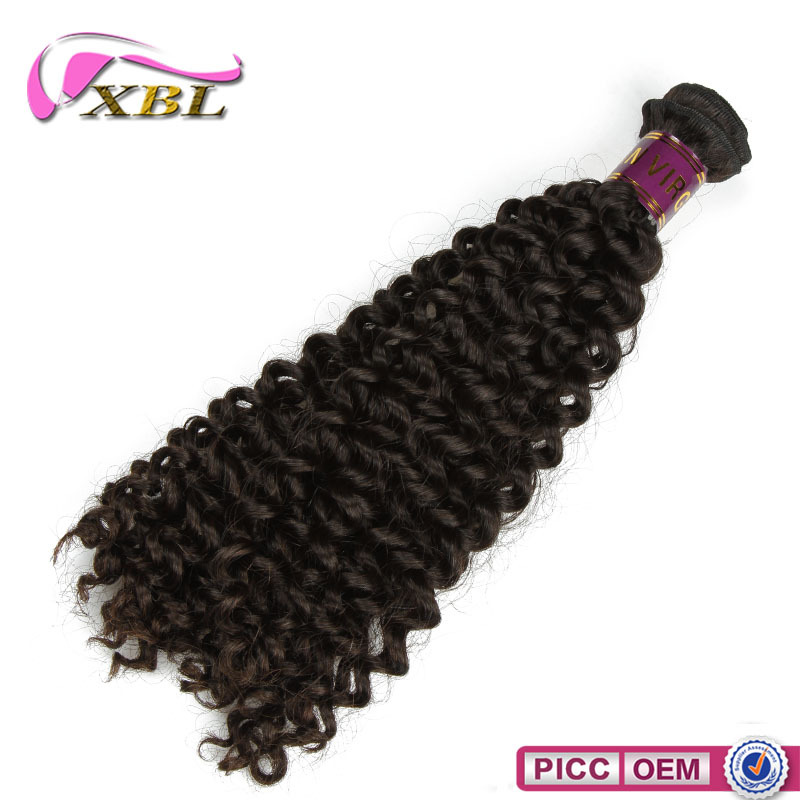 Top quality Curly Wave Hair , Cuticle Remy Virgin Remy Human Hair Weave
