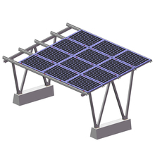 Good quality 1MW aluminum ground mounting bracket solar power plant system