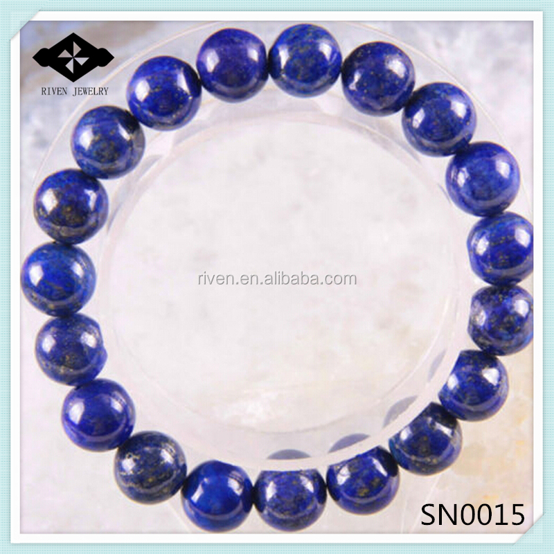SN0015 Stretch 4mm 6mm 8mm 10mm Round Beads Natural Stone Lapis Bracelet.jpg