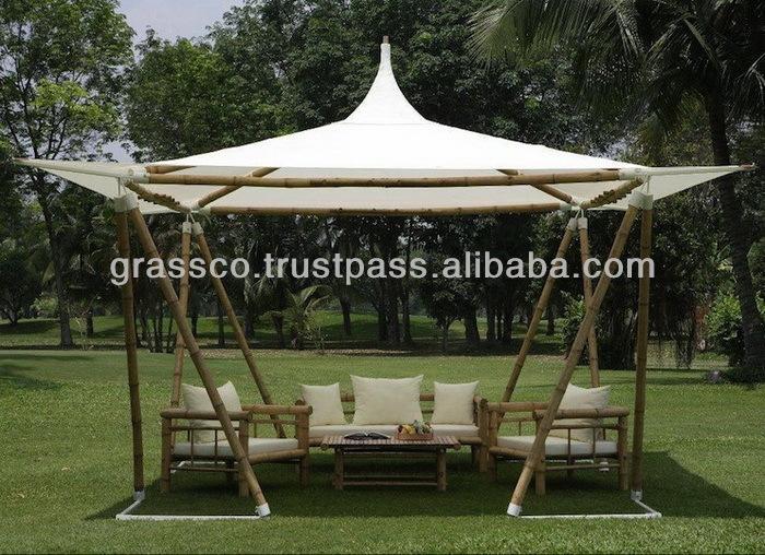 Bambou gazebo 06010 mobilier d 39 ext rieur id de produit for Mobilier bambou exterieur