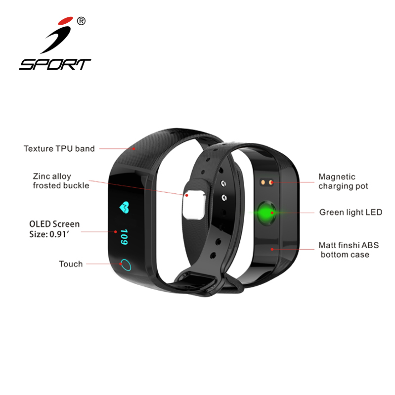Heart Rate Monitor/Step Tracker/Calorie Counter/Bluetooth Smart Wristband Bracelet Sport Pedometer Activity Tracker