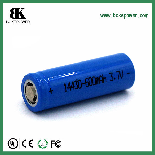 NCM long cycle life battery LICoO2 battery rechargeable ICR14430 3.7V 650mah