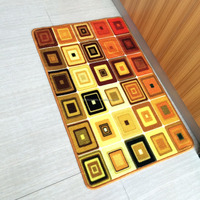 Orange color HD Nylon Printing kitchen mat