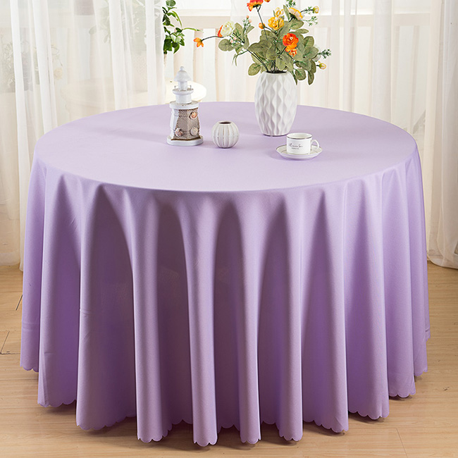 Purple 90 round Event table linens/tablecloth Factory Sale