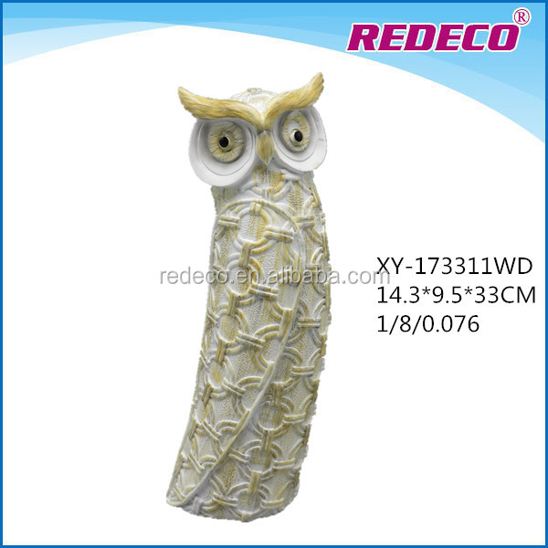 2017 Newly resin animal statue owl statues for tabletop deco