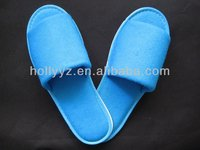 High quality open toe blue new fashion winter slippers