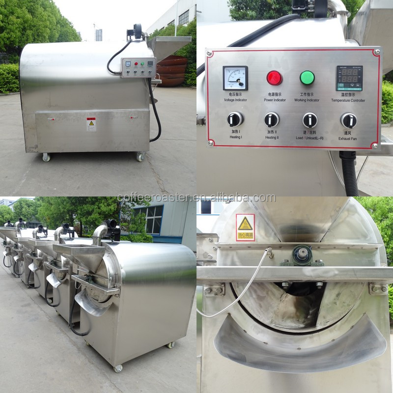 Dongyi LQ dry rice/corn/wheat/soybean/seasame roaster corn roaster for sale used
