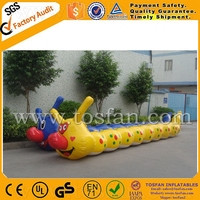 Funny inflatable floating PVC water caterpillar A9051A