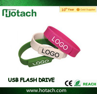 2016 new product oem silicone bracelet 1gb usb flash drive wholesale
