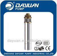 4SOm 1'' 1.5m3/h vertical turbine submersible deep well pump specification