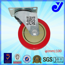 JY-402|4 inch bearing caster wheel|4 inch rubber PU caster wheel |4 inch swivel top plate caster