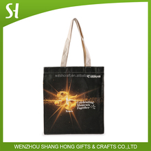 2016 plain cotton canvas tote bag with logo printed design/recyclable cotton candy packaging bag