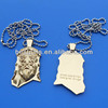 3D man face design gold human dog tag neckalce