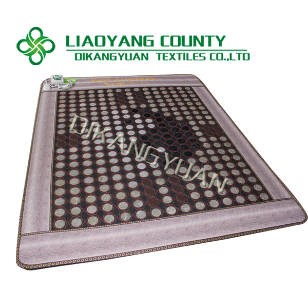 thermal jade massage bed mattress, magnetic therapy tourmaline jade heating mattress 150*190cm CE approved