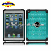 for iPad Mini 2 Rubber Diamond Case(Green/Black)