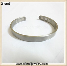 Personalized matte silver plated finish copper magnetic bracelet therapy help relieving men/women's arthritis,joint pains
