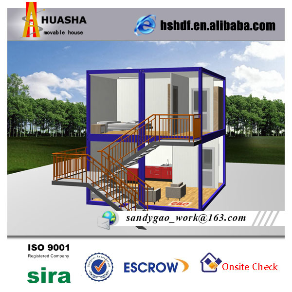 Double layer container modular prefab house