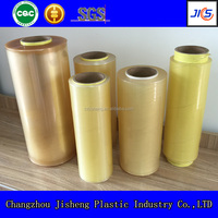 Top quality soft transparent cling film jumbo roll