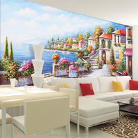 2016 hot sale reasonable price mosaic mural patterns oil painting wallpaper customize