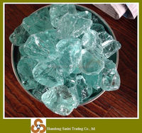Wholesale natural recycled blue crushed cullet glass