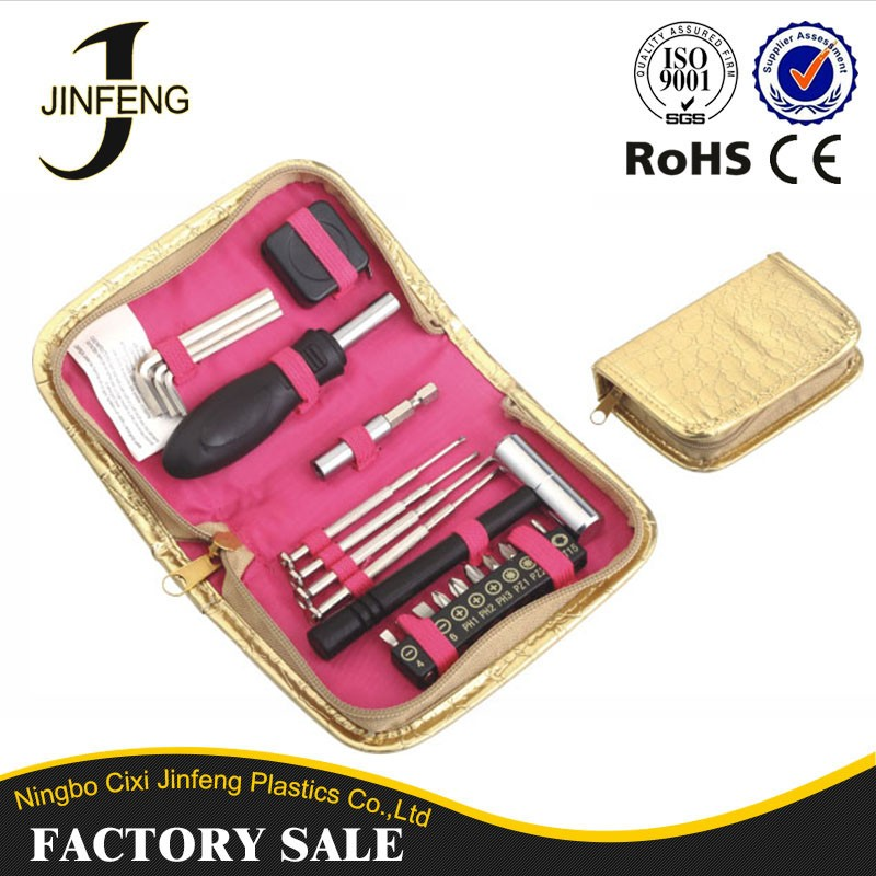 China Wholesale Metal Toolbox Supplier High Prime Quality Promotional Mini Tool Kit With Tape Measure Screwdriver Ratchet Tools