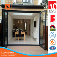 aluminum exterior bi folding doors for veranda