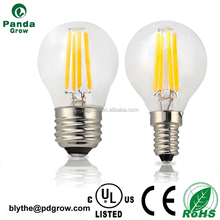 2016 Smooth Dimmable E14 E12 Base G45 LED Filament Light Bulb 2W 4W 6W CE/ROHS
