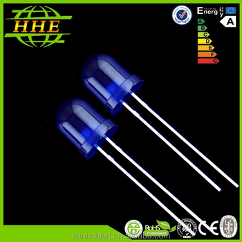 Transparent round blue led diode 5mm