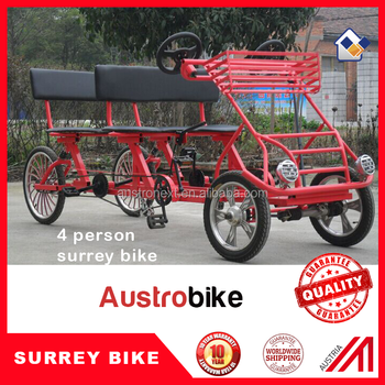 3 speed 4 Wheel Two Person Surrey Bike for family hot sale